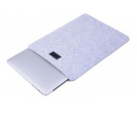 Чехол фетровый для ноутбука 15.6 (Gray) 2
