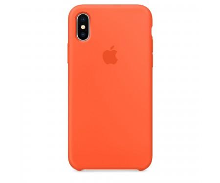 Чехол для Apple iPhone X Silicone Case Orange Lux Copy 1